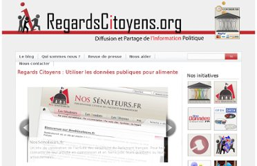 http://www.regardscitoyens.org/category/actu/