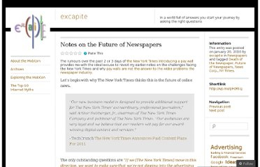 http://excapite.wordpress.com/2010/01/20/notes-on-the-future-of-newspapers/