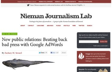 http://www.niemanlab.org/2009/11/new-public-relations-beating-back-bad-press-with-google-adwords/