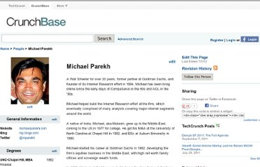 http://www.crunchbase.com/person/michael-parekh