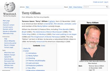 http://en.wikipedia.org/wiki/Terry_Gilliam