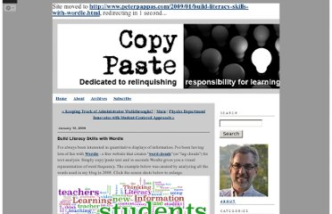 http://peterpappas.blogs.com/copy_paste/2009/01/build-literacy-skills-with-wordle.html