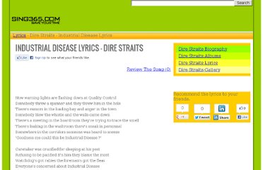 http://www.sing365.com/music/lyric.nsf/Industrial-Disease-lyrics-Dire-Straits/11314E9C69C6303C48256BCE000BE7B7