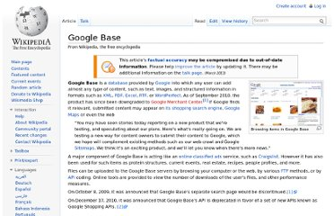 http://en.wikipedia.org/wiki/Google_Base