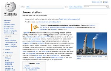 http://en.wikipedia.org/wiki/Power_station#Solar