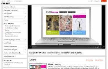 http://www.moma.org/learn/teachers/online