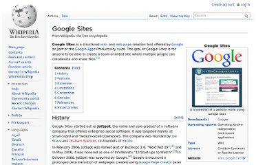 http://en.wikipedia.org/wiki/Google_Sites