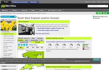 http://www.metoffice.gov.uk/weather/uk/sw/sw_forecast_weather.html