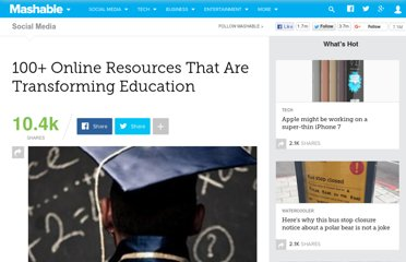 http://mashable.com/2011/01/07/online-education-websites/