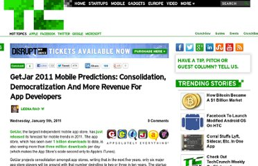 http://techcrunch.com/2011/01/05/getjar-2011-mobile-predictions-consolidation-democratization-and-more-revenue-for-app-developers/#