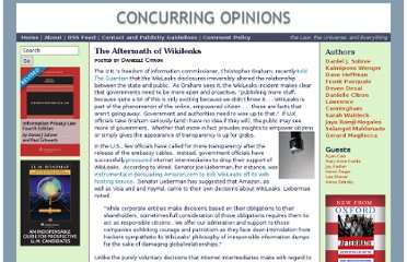 http://www.concurringopinions.com/archives/2011/01/the-aftermath-of-wikileaks.html