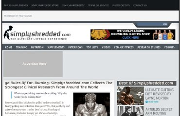 http://www.simplyshredded.com/50-rules-of-fat-burning-simplyshredded-com-collects-the-strongest-clinical-research-from-around-the-world.html