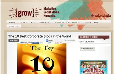 http://www.businessesgrow.com/2011/01/05/the-10-best-corporate-blogs-in-the-world/