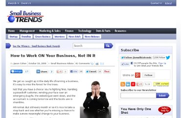 http://smallbiztrends.com/2009/10/how-to-work-on-business-not-in-it.html