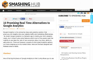 http://smashinghub.com/10-promising-real-time-alternatives-to-google-analytics.htm