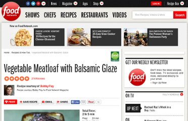 http://www.foodnetwork.com/recipes/bobby-flay/vegetable-meatloaf-with-balsamic-glaze-recipe/index.html