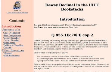 http://www.library.illinois.edu/circ/tutorial/deweyintro.html