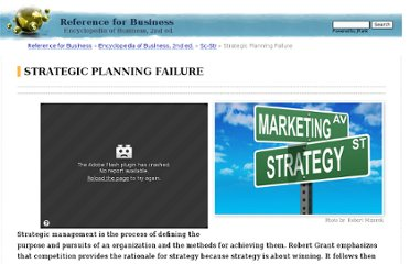 http://www.referenceforbusiness.com/management/Sc-Str/Strategic-Planning-Failure.html