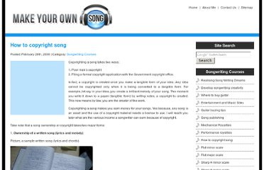 http://www.make-your-own-song.com/how-to-copyright-song/