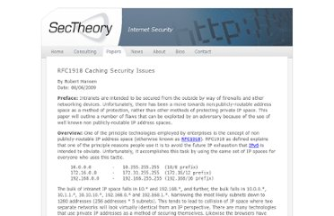 http://www.sectheory.com/rfc1918-security-issues.htm