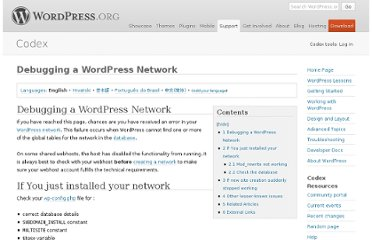 http://codex.wordpress.org/Debugging_a_WordPress_Network
