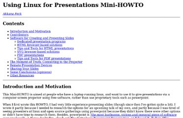 http://www.shallowsky.com/linux/LinuxPresentations.html#dedicated