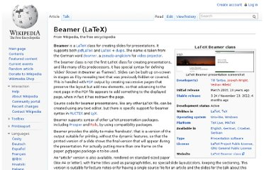 http://en.wikipedia.org/wiki/Beamer_(LaTeX)