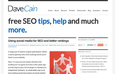 http://www.davecain.co.uk/blog/using-social-media-for-seo-and-better-rankings