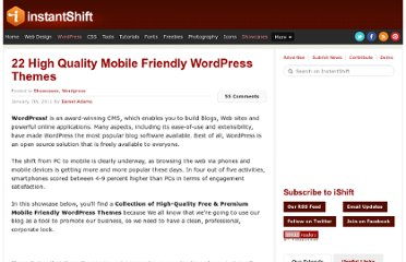 http://www.instantshift.com/2011/01/07/22-high-quality-mobile-friendly-wordpress-themes/