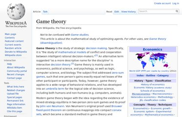 http://en.wikipedia.org/wiki/Game_theory