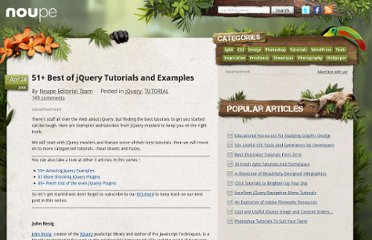 http://www.noupe.com/tutorial/51-best-of-jquery-tutorials-and-examples.html
