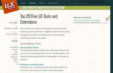 http://www.uxbooth.com/blog/top-29-free-ux-tools-and-extensions/