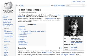 http://en.wikipedia.org/wiki/Robert_Mapplethorpe