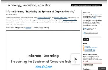 http://blog.hansdezwart.info/2010/11/08/informal-learning-broadening-the-spectrum-of-corporate-learning/