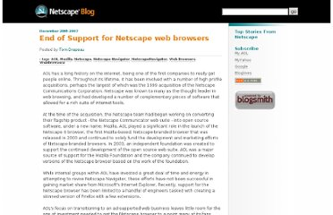http://blog.netscape.com/2007/12/28/end-of-support-for-netscape-web-browsers/