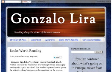 http://gonzalolira.blogspot.com/p/books-worth-reading.html