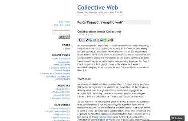 http://collectiveweb.wordpress.com/tag/synaptic-web/