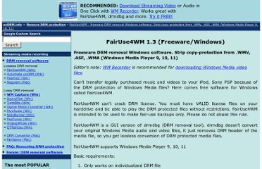 http://undrm.info/remove-DRM-protection/FairUse4WM-freeware-DRM-removal-Windows-software-Strip-copy-protection-from-WMV-ASF-WMA-Windows-Media-Player.htm