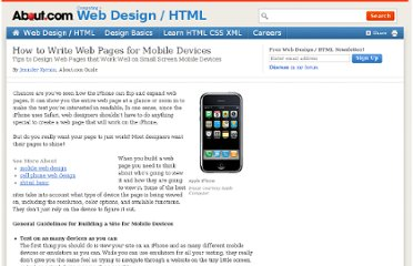 http://webdesign.about.com/od/mobile/a/write-web-pages-for-the-iphone.htm