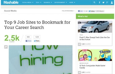 http://mashable.com/2011/01/10/job-sites-to-bookmark/