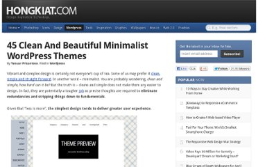 http://www.hongkiat.com/blog/beautiful-minimalist-wordpress-themes/