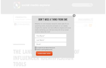 http://www.socialmediaexplorer.com/online-public-relations/influencer-identification-tools/