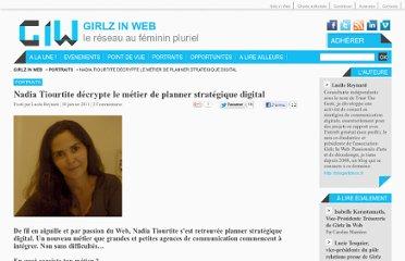 Nadia Tiourtite- Recherche de personnes avec photos, news & liens