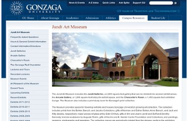 http://www.gonzaga.edu/Campus-Resources/Museums-and-Libraries/Jundt-Art-Museum/