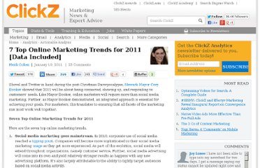 http://www.clickz.com/clickz/column/1935424/online-marketing-trends-2011-included