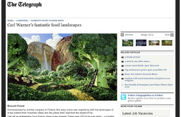 http://www.telegraph.co.uk/gardening/hampton-court-flower-show/7868681/Carl-Warners-fantastic-food-landscapes.html