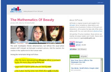 http://blog.okcupid.com/index.php/the-mathematics-of-beauty/