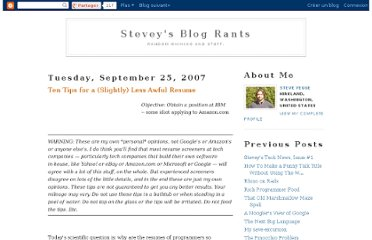 http://steve-yegge.blogspot.com/2007/09/ten-tips-for-slightly-less-awful-resume.html