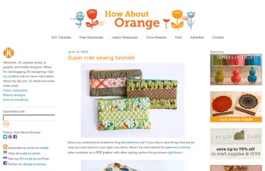 http://howaboutorange.blogspot.com/2010/06/super-cute-sewing-tutorials.html