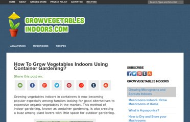 http://www.growvegetablesindoors.com/how-to-grow-vegetables-indoors-using-container-gardening/